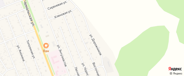 Улица Дорожников на карте села Чемал с номерами домов