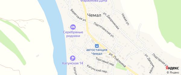 Крестовая улица на карте села Чемал с номерами домов
