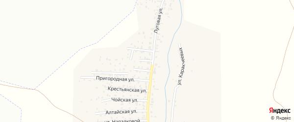 Юбилейная улица на карте поселка Алферово с номерами домов