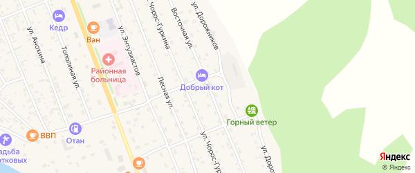 Восточная улица на карте села Чемал с номерами домов
