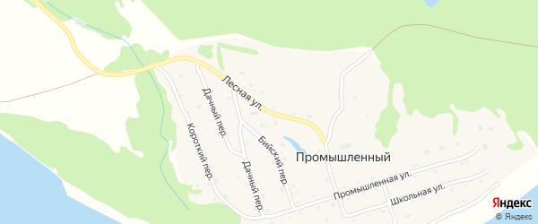 Лесная улица на карте Промышленного поселка с номерами домов