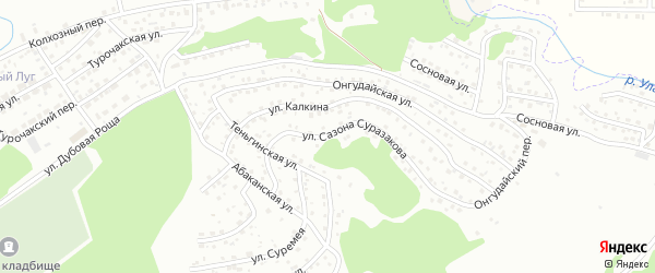 Улица С.С.Суразакова на карте Горно-Алтайска с номерами домов