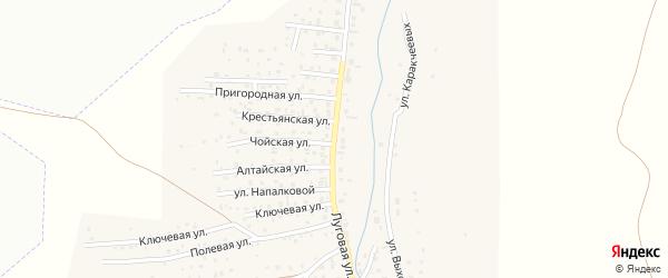 Луговая улица на карте поселка Алферово с номерами домов