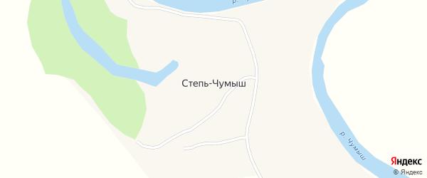 Улица Свердлова на карте села Степи-Чумыш с номерами домов