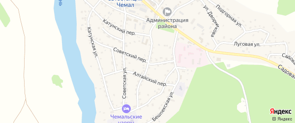 Алтайская улица на карте села Чемал с номерами домов