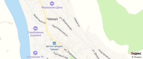 Улица Дворникова на карте села Чемал с номерами домов