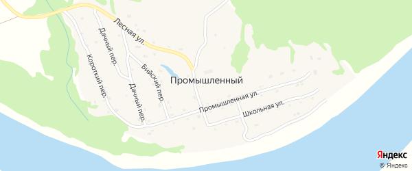 Промышленная улица на карте Промышленного поселка с номерами домов