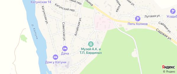 Улица Зеленая Роща на карте села Чемал с номерами домов