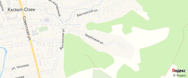 Березовая улица на карте села Кызыла-Озька с номерами домов