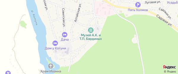 Бешпекская улица на карте села Чемал с номерами домов