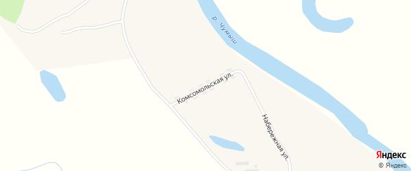 Комсомольская улица на карте села Степи-Чумыш с номерами домов
