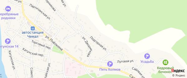 Подгорная улица на карте села Чемал с номерами домов