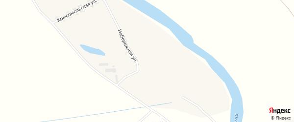 Набережная улица на карте села Степи-Чумыш с номерами домов