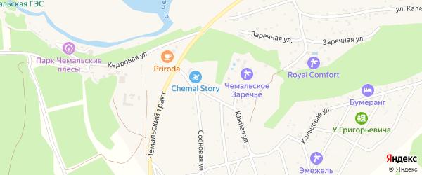 Южная улица на карте села Чемал с номерами домов