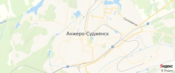 Карта Анжеро-Судженска с районами, улицами и номерами домов: Анжеро-Судженск на карте России