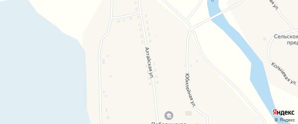 Алтайская улица на карте села Победы с номерами домов