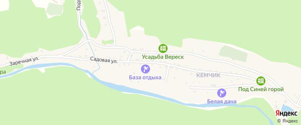 Садовая улица на карте села Элекмонар с номерами домов