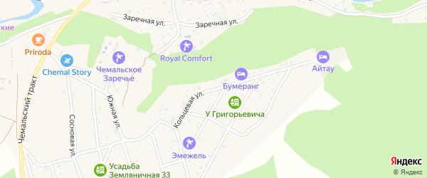 Кольцевая улица на карте села Чемал с номерами домов