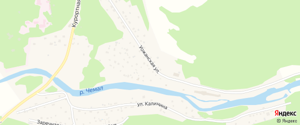 Уожанская улица на карте села Чемал с номерами домов
