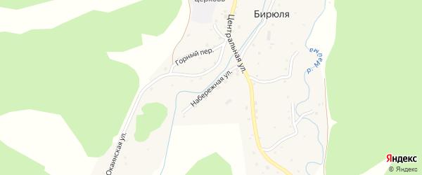Набережная улица на карте села Бирюли с номерами домов