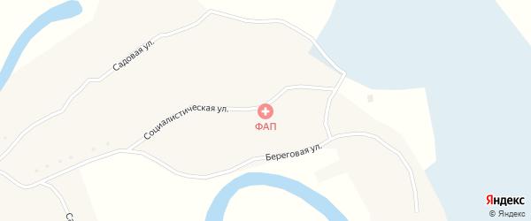 Речная улица на карте села Победы с номерами домов