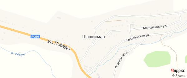 Садовая улица на карте села Шашикмана с номерами домов