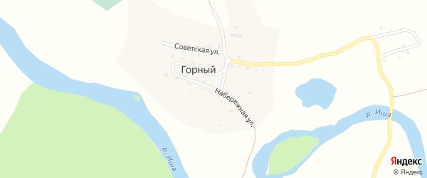 Набережная улица на карте Горного поселка с номерами домов