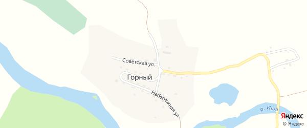 Советская улица на карте Горного поселка с номерами домов