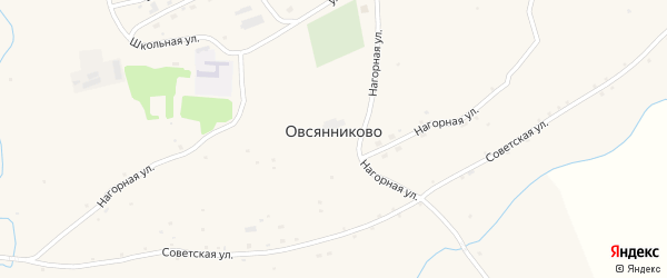 Молодёжная улица на карте села Овсянниково с номерами домов