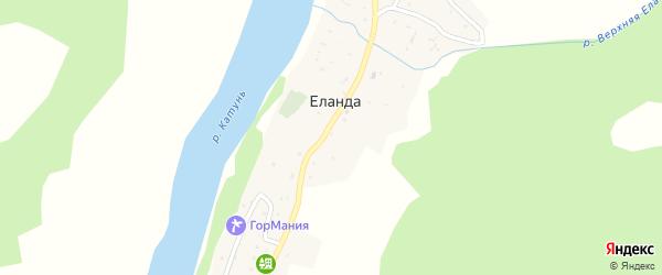 Катунская улица на карте села Еланды с номерами домов