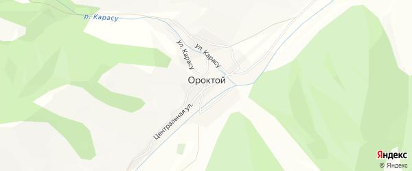 Карта села Ороктой в Алтае с улицами и номерами домов