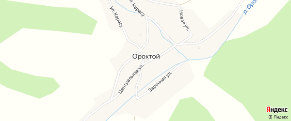 Подгорная улица на карте села Ороктой с номерами домов
