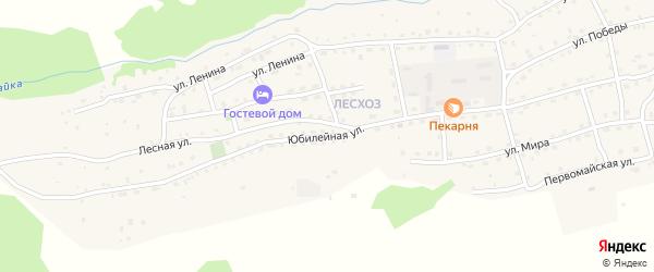 Юбилейная улица на карте села Онгудая с номерами домов