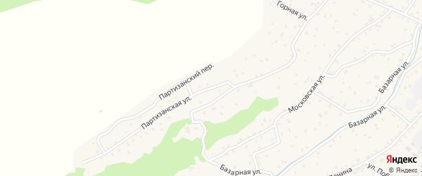 Партизанская улица на карте села Онгудая с номерами домов