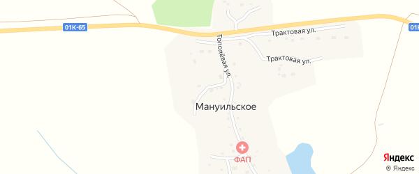 Садовый переулок на карте Мануильское села с номерами домов