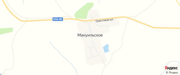 Карта Мануильское села в Алтайском крае с улицами и номерами домов