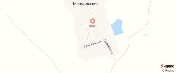 Клубный переулок на карте Мануильское села с номерами домов