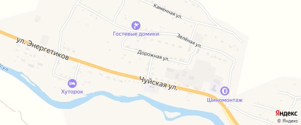 Дорожная улица на карте села Онгудая с номерами домов