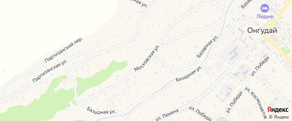 Московская улица на карте села Онгудая с номерами домов