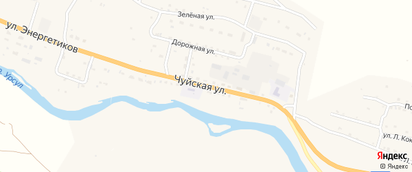Чуйская улица на карте села Онгудая с номерами домов