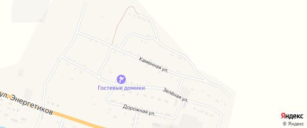 Каменная улица на карте села Онгудая с номерами домов