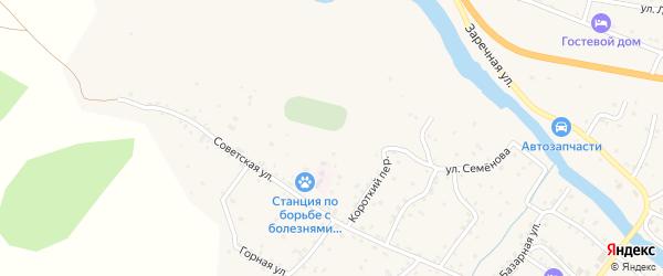 Урсульская улица на карте села Онгудая с номерами домов