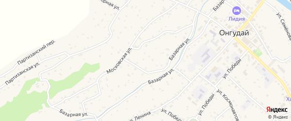 Базарная улица на карте села Онгудая с номерами домов
