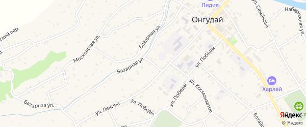 Переулок Ленина на карте села Онгудая с номерами домов