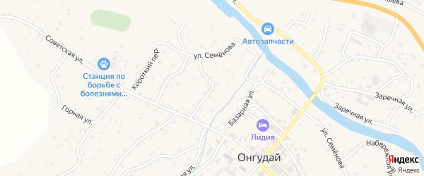 Импортная улица на карте села Онгудая с номерами домов