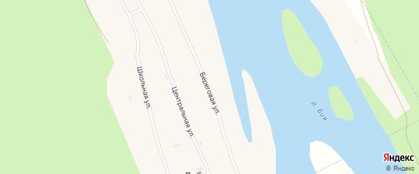 Береговая улица на карте села Лебяжьего с номерами домов