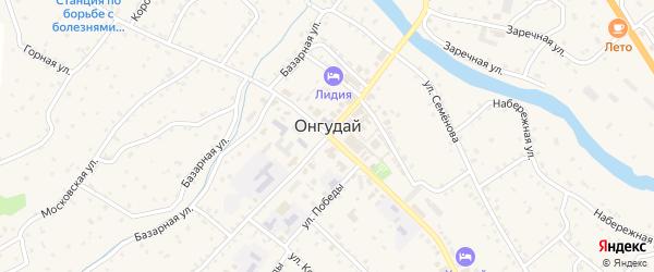 Рабочий переулок на карте села Онгудая с номерами домов