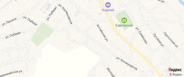 Улица Космонавтов на карте села Онгудая с номерами домов