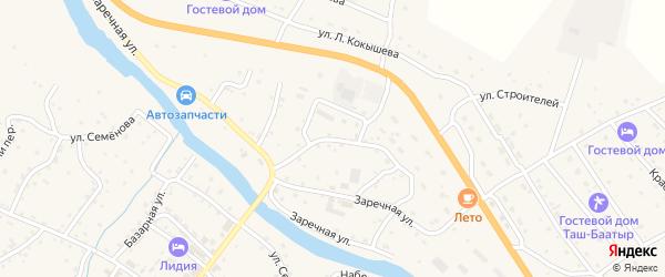 Кооперативная улица на карте села Онгудая с номерами домов