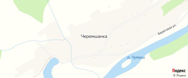 Береговая улица на карте села Черемшанки с номерами домов